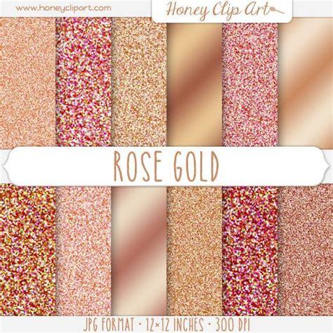 Gold Folie Papier by Rose Gold Digital Paper Rose Gold Glitter Foil