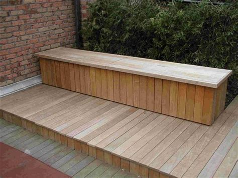 building deck benches deck storage bench plans home inspirations design top
