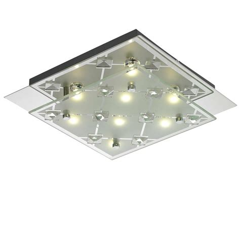 chrome bad beleuchtung led design decken leuchte flur glas chrom le dielen bad