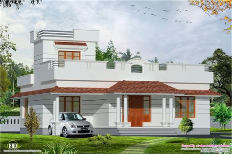 home design books 2014 kerala style budget home in 1200 sq feet house design plans