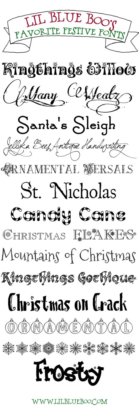 lil blue boo s favorite free festive holiday fonts