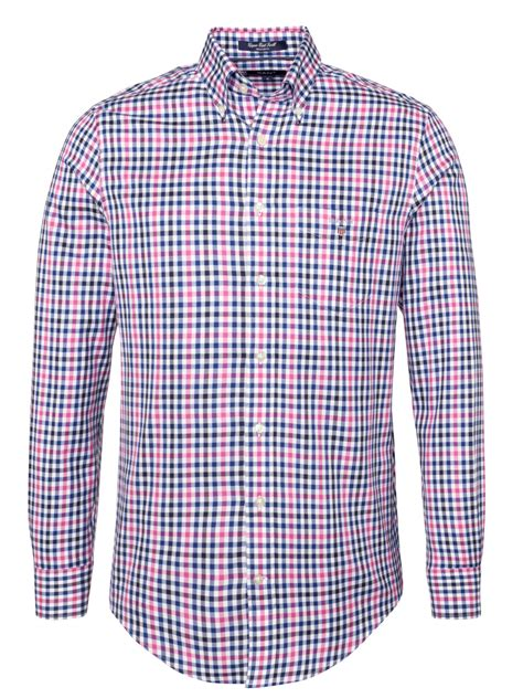 Gingham Shirt gant gingham twill classic shirt in pink for lobster