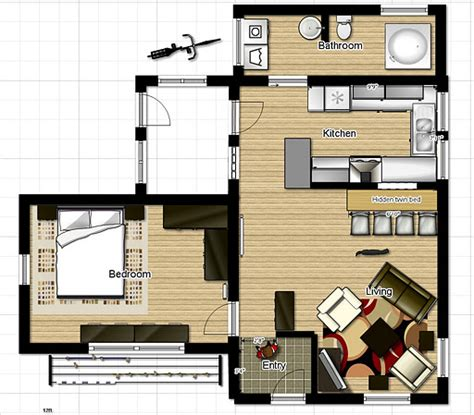 one floor tiny house small one bedroom house floor plans inside tiny houses