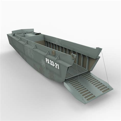 higgins boat ww2 higgins boat lcvp 3d model