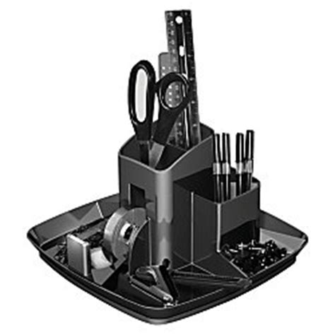 Office Depot Rotary Desk Organizer Ebony By Office Depot Rotary Desk Organizer