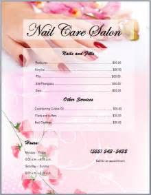 spa price list template 25 best nail salon prices ideas on price list