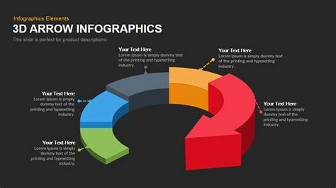 3d themes for powerpoint 2007 free download 3d arrow infographics powerpoint keynote template