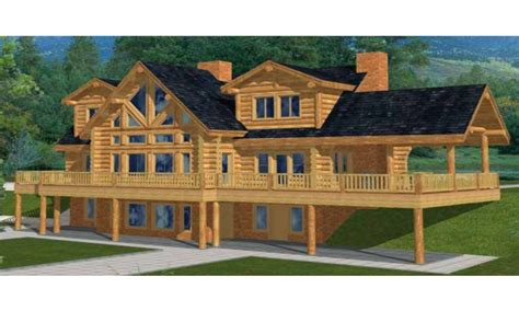 2 Story Log Cabin by Two Story Log Cabin House Plans Custom Log Cabins Country
