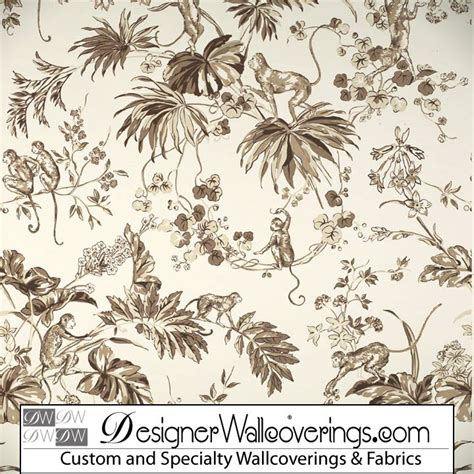 monkey wallpaper for walls monkey toile wallpaper pal 42038 designer wallcoverings