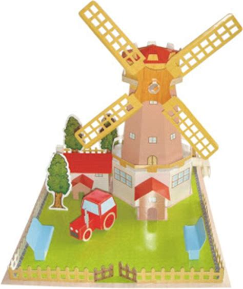 Paper Windmill Craft - paper model craft paper windmill