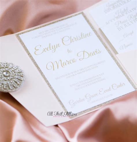 diy pink and gold wedding invitations invitation gold glitter wedding invitation suite