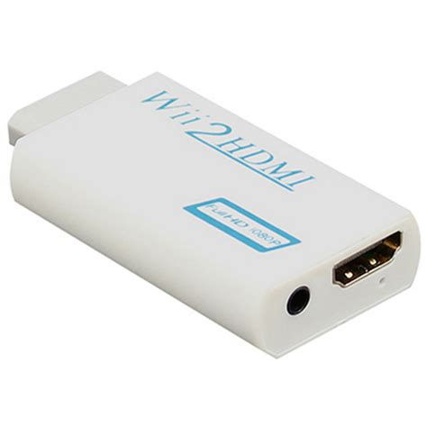 Wii To Hdmi 1080p Converter Adapter Murah wii to hdmi wii2hdmi adapter converter 3 5mm audio box white free shipping dealextreme