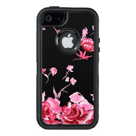 radiant red floral otterbox defender iphone case case