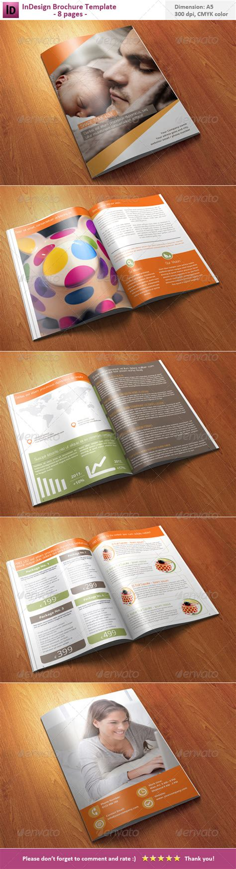 Indesign Brochure Template 8 Pages By Skatusic Graphicriver 8 Page Booklet Template Indesign