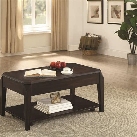 coaster furniture lift top coffee table coaster 72104 721048 rectangular lift top coffee table