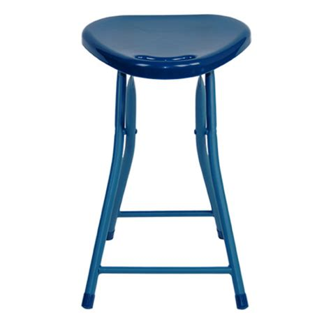 folding stool with handle 4 pack moonlight blue