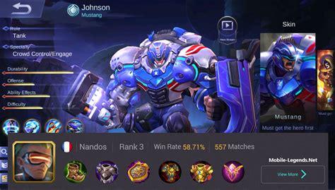 mainan mobile legend johnson high tank build 2019 mobile legends