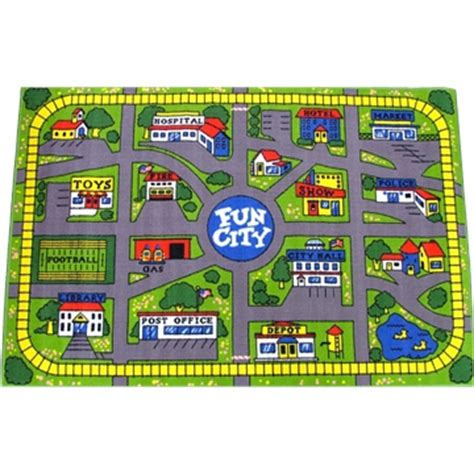 car map rug dimensions city car play mat rug with track