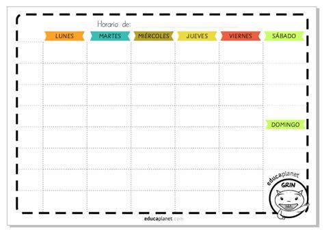 Calendario De Este A O Imprime Este Horario Semanal O Agenda Para Organizar La