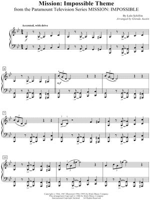 theme music mission impossible download lalo schifrin quot mission impossible theme quot sheet music
