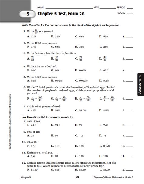night section 5 answers glencoe geometry chapter 10 test form 2a answers