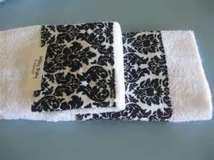black and white bath towel sets damask black and white guest towel set of 2 towels in
