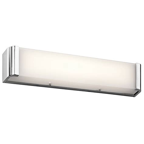 modern bathroom light fixture kichler 45617chled landi contemporary chrome led 24
