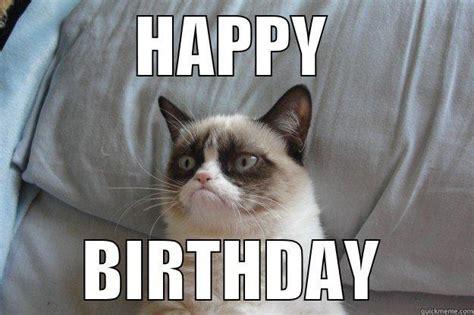 Grumpy Cat Meme Happy Birthday - grumpy wish quickmeme