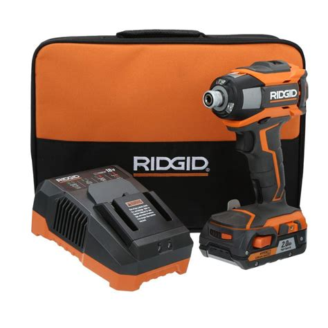 ridgid gen5x 18 volt lithium ion 1 4 in cordless impact