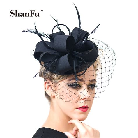 aliexpress buy shanfu fancy feather fascinator