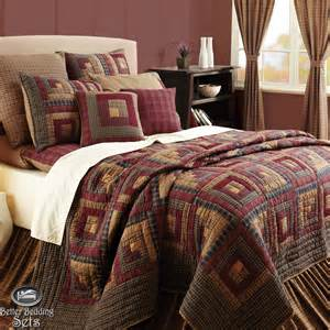 California King Bedspreads Quilts Rustic Lodge Log Cabin Twin Queen Cal King Size Quilt