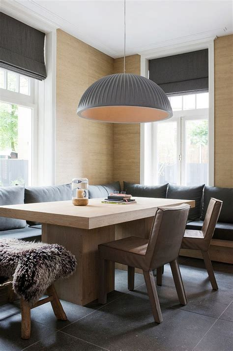 refined simplicity banquette ideas scandinavian dining space