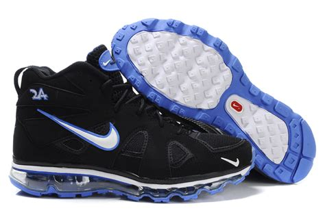 nike air max griffey fury blue black and white basketball