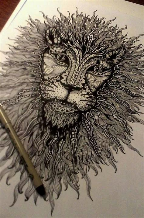 zentangle lion zentangle spiratie pinterest zentangle lion zentangle spiratie pinterest