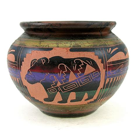 American Vases by American Indian Pottery Vase W By Carol