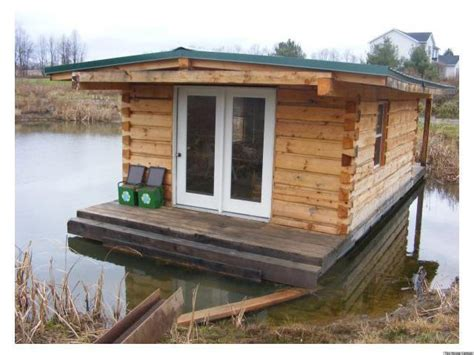tiny home cabin a floating log cabin that combines tiny home living and