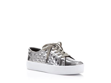 quilted platform sneakers minkoff metallic quilted platform sneakers in