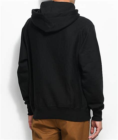 Chion Weave Logo Hoodie chion weave small logo black hoodie zumiez