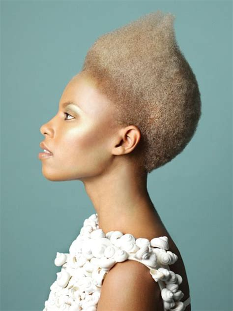 edgy afro hairstyles 33 best images about kroeshaar kapsels on pinterest