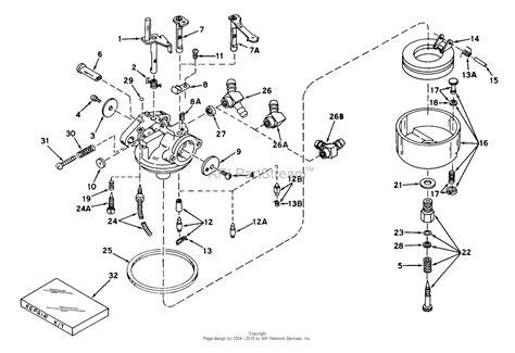 tecumseh ca  parts diagram  carburetor