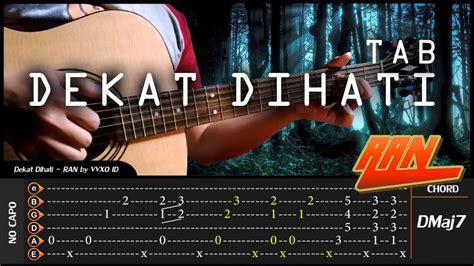 tutorial belajar fingerstyle guitar ran dekat di hati fingerstyle tab chord tutorial