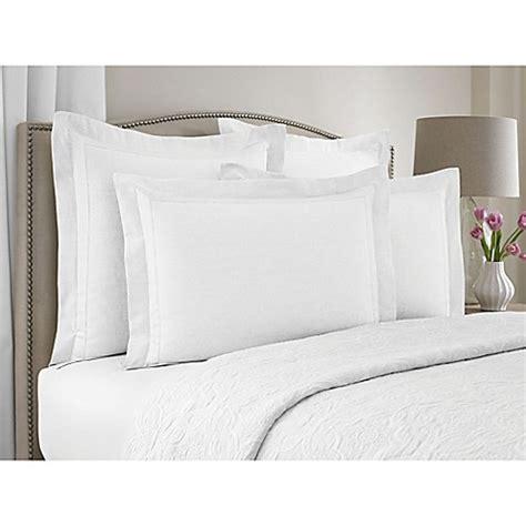 bed pillow shams wamsutta 174 collection linen cotton blend pillow sham bed
