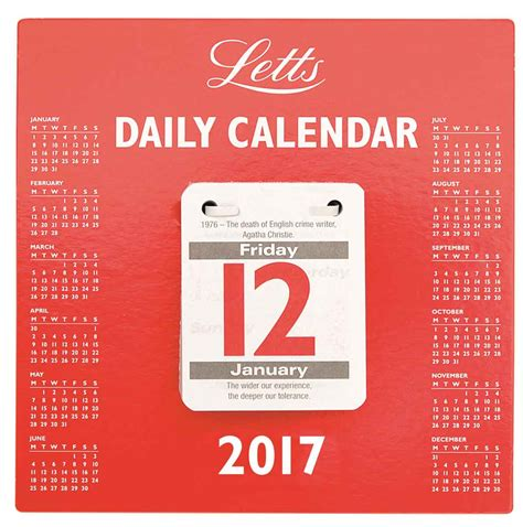 Daily Tear Off Desk Calendar 2017 Calendar Club Uk