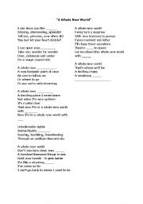 printable lyrics a whole new world a whole new world lyrics driverlayer search engine