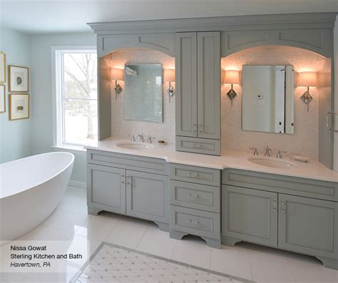 Master bath cabinets omega cabinetry