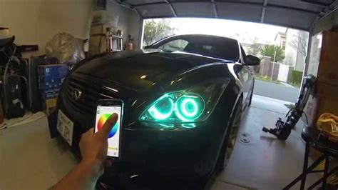 Infinity Halo Spectrum Rgb Controller infiniti g37 ipl coupe with dual rgb halo s with bluetooth