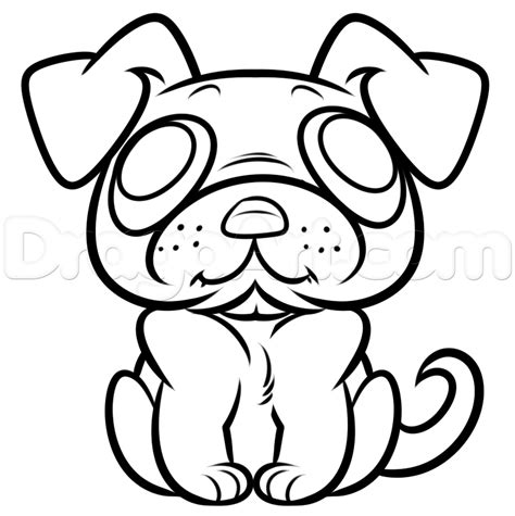 easy pug drawing draw a pug easy step by step pets animals free drawing tutorial added by