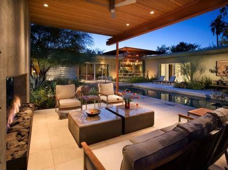outdoor living space 14 interior design ideas terasa moderna ce incorporeaza un semineu decorativ