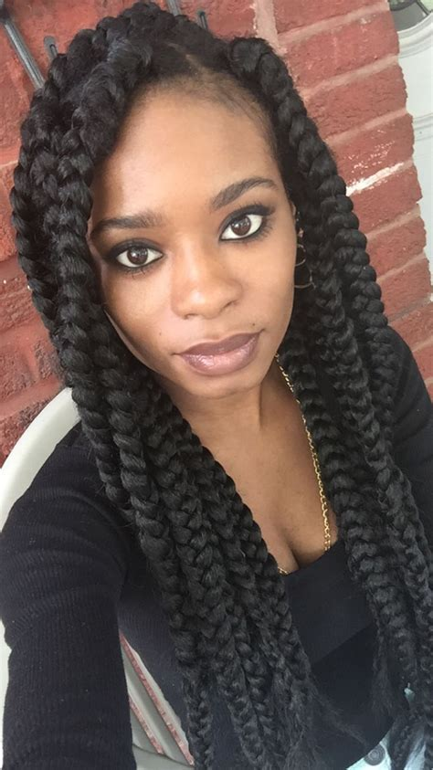 how many packs of hair for medium long box braids 7 best images about box braids on pinterest jumbo braids