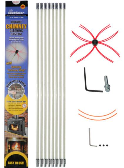 Chimney Liner Cleaning Kit - sooteater chimney cleaning system for chimney liners